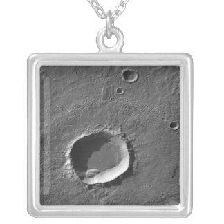 火星の噴火口 シルバープレートネックレス