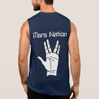 火星の国家の平和 袖なしシャツ
