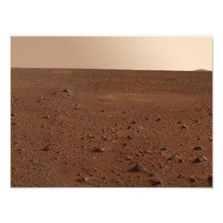 火星の岩が多い表面 フォトプリント