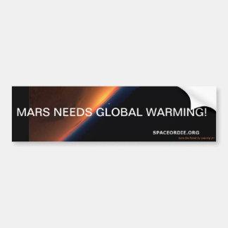 火星の必要性の地球温暖化! バンパーステッカー