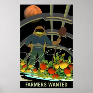 火星の探検家-農家はポスターがほしいと思いました ポスター