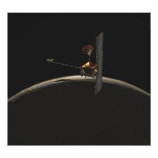 火星の日の出上の火星のオデュッセイアの宇宙船 フォトプリント