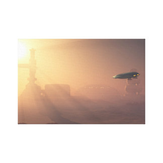 火星の植民地の住民の前哨の挨りだらけの着陸 キャンバスプリント
