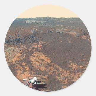 火星の粗紡機からのMatijevicの丘のパノラマ ラウンドシール
