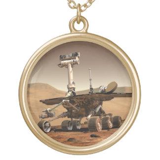 火星の粗紡機 ゴールドプレートネックレス