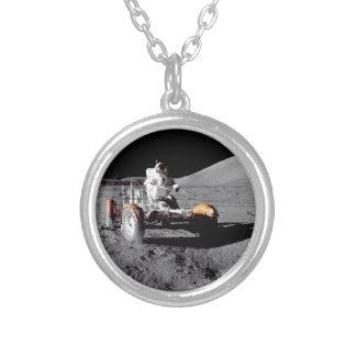 火星の粗紡機 シルバープレートネックレス