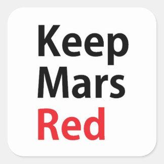 火星の赤のデカールを保って下さい スクエアシール