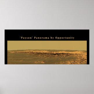 火星のPaysonの」機会によるパノラマ ポスター