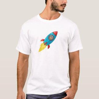 火星のTシャツへのTabithaフィンク軽いロケット Tシャツ