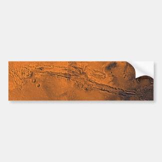 火星のValles Marineris渓谷システム バンパーステッカー