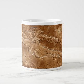 火星のValles Marineris渓谷 ジャンボコーヒーマグカップ