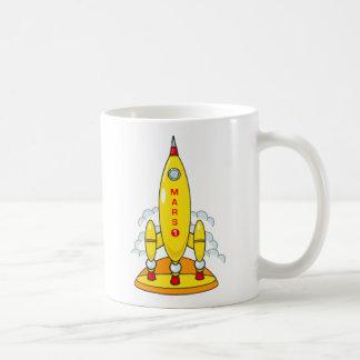 火星へのロケット コーヒーマグカップ