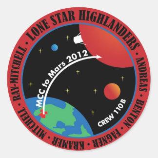 火星101のステッカー2011年 ラウンドシール