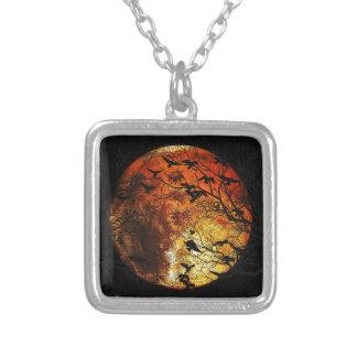 火星 シルバープレートネックレス