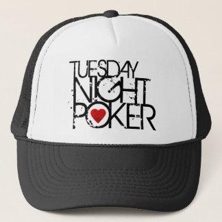 火曜の夜のトランプのポーカー キャップ