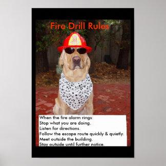 火災訓練 ポスター
