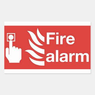 火災警報の印 長方形シール