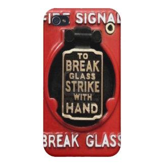 火災警報-壊れ目ガラス iPhone 4/4Sケース