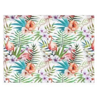 火炎式のフラミンゴの熱帯自然の庭パターン テーブルクロス