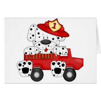 火犬Dalmationおよび帽子 カード