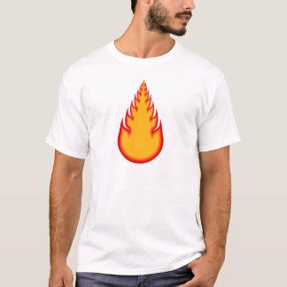 火球のグラフィック: 火の玉: 炎 Tシャツ