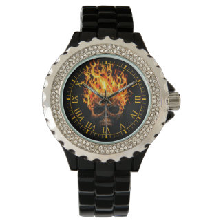 火球のスカル 腕時計