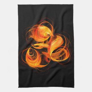 火球の抽象美術の台所タオル キッチンタオル