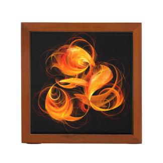 火球の抽象美術 ペンスタンド