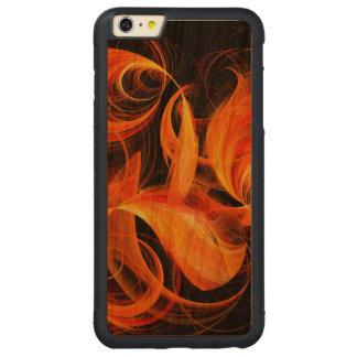 火球の抽象美術 CarvedチェリーiPhone 6 PLUSバンパーケース