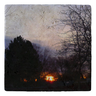 火球の日の出のTravertine Trivet トリベット