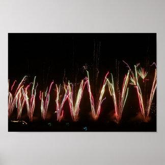 火花の噴水 ポスター