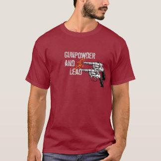 火薬および鉛リボルバーピストルセット Tシャツ