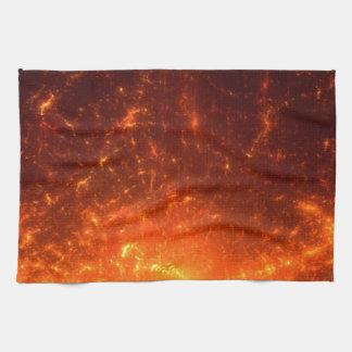 火 キッチンタオル