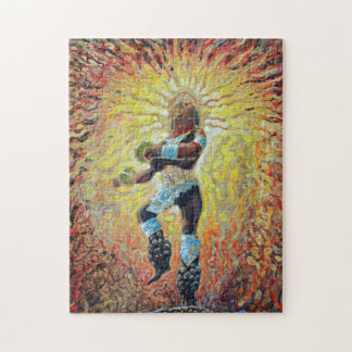 火-ダンサーのパズルのダンサー ジグソーパズル