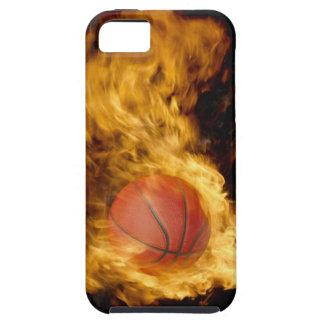 火(デジタル合成物)のバスケットボール iPhone 5 CASE
