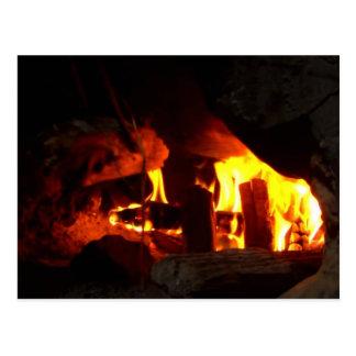 火: 暖炉炉 ポストカード