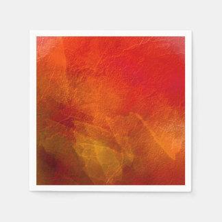 火-深いオレンジ赤の黄色の抽象美術 スタンダードカクテルナプキン