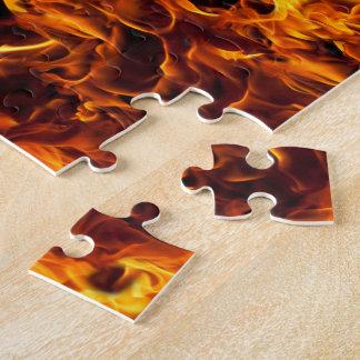 火/炎パターン背景 ジグソーパズル