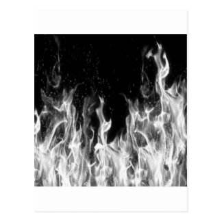 火(白黒) ポストカード