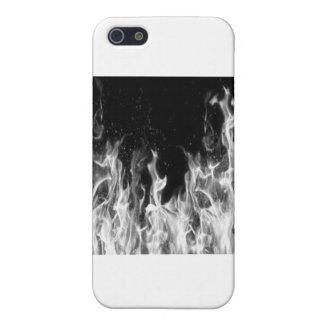 火(白黒) iPhone 5 カバー