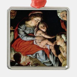 火、c.1532-33のまわりの神聖な家族 メタルオーナメント