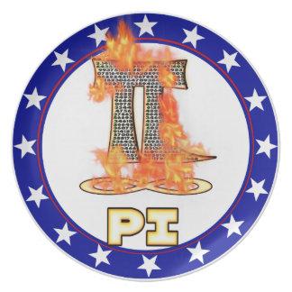 火- PI日のPI ディナー皿