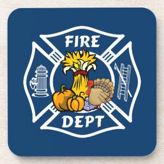 火Deptの感謝祭のロゴ コースター