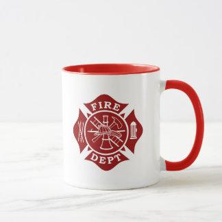 火Dept/消防士のマルタ十字のマグ マグカップ