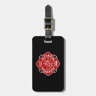 火Dept/消防士のマルタ十字の荷物のラベル ラゲッジタグ