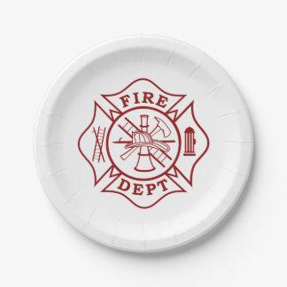 火Dept/消防士の紙皿7つ ペーパープレート スモール