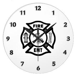 火Dept EMT ラージ壁時計
