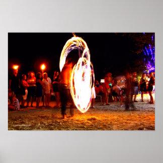 火Poiの満月のパーティー ポスター