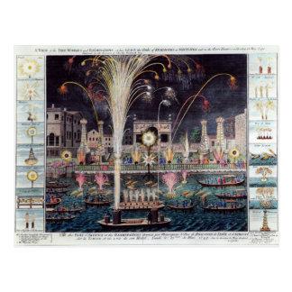 火workesおよび照明の概観 ポストカード