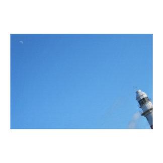 灯台および月タスマニアオーストラリア キャンバスプリント
